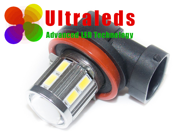 Żarówka LED H11 - 12 x 5630 LED + 5 W Cree + soczewka